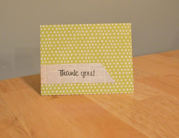 handmade thank you card wedding