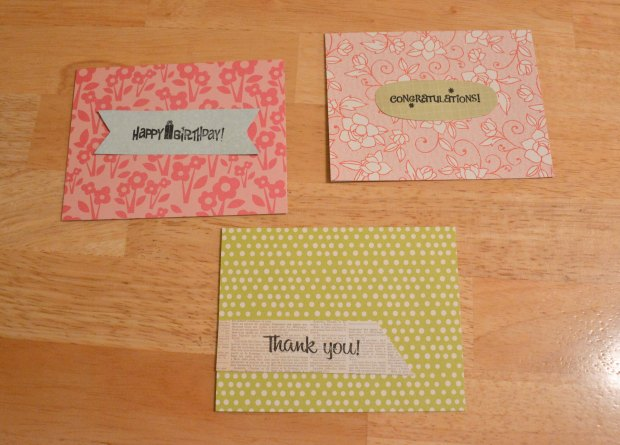 stamped handmade cards