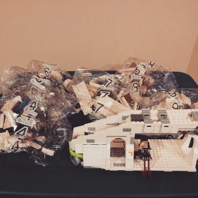 You know we're adults: we're building this Republic Gunship in order!