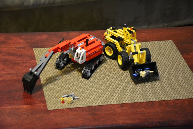Lego Technic loader and excavator
