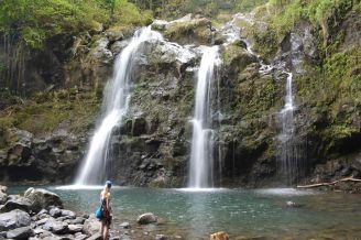 These waterfalls were easily accessible from the road. I wish I hadn't jumped in front of the camera though!